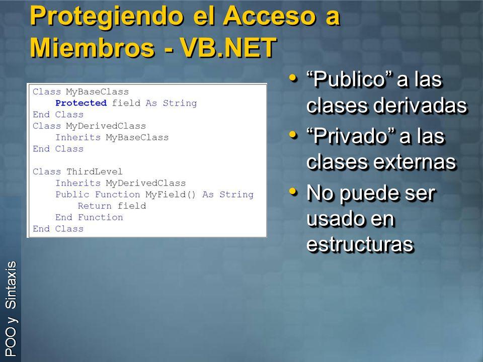 Protegiendo el Acceso a Miembros - VB.NET