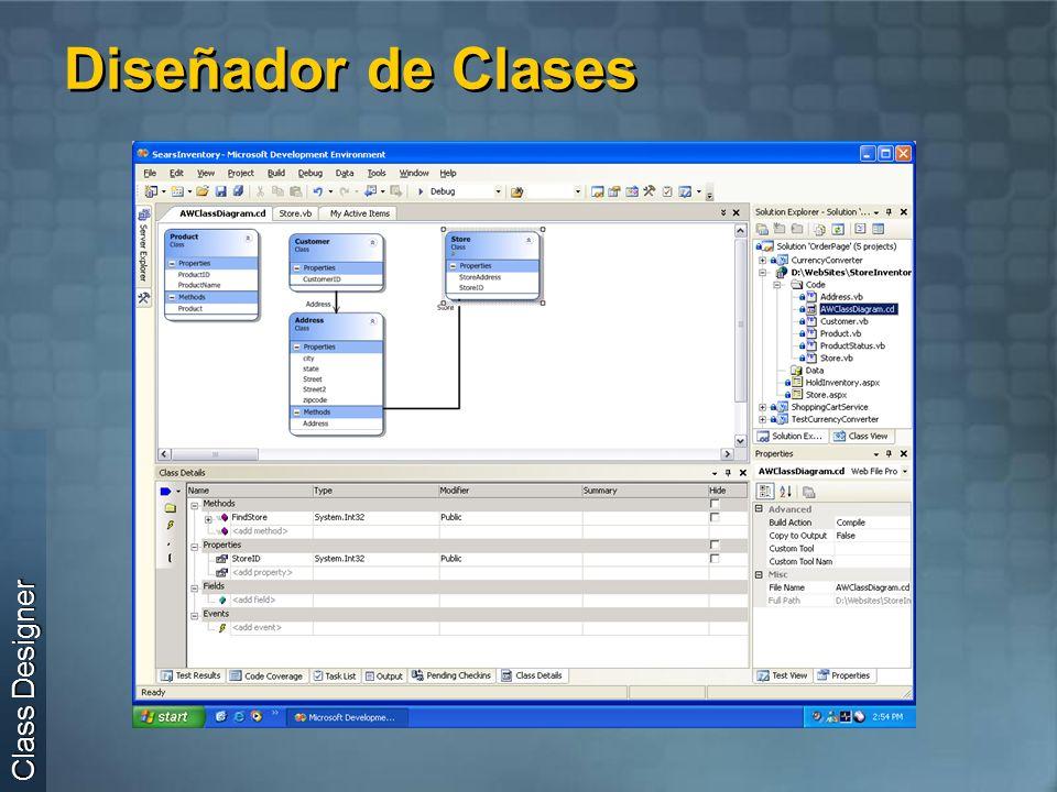Diseñador de Clases Class Designer