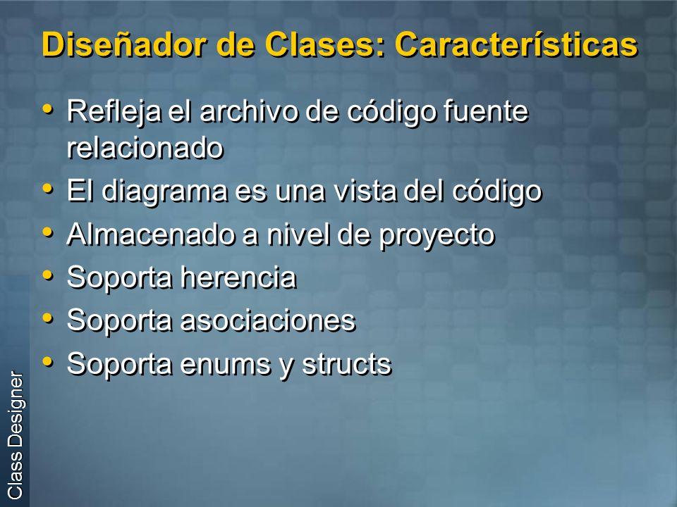 Diseñador de Clases: Características