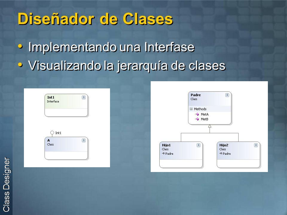 Diseñador de Clases Implementando una Interfase