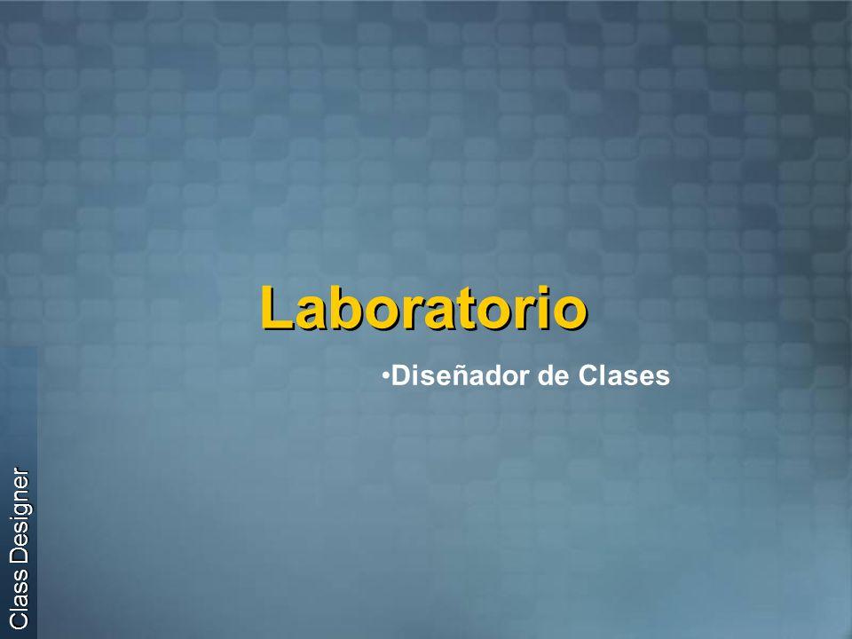 Laboratorio Diseñador de Clases Class Designer