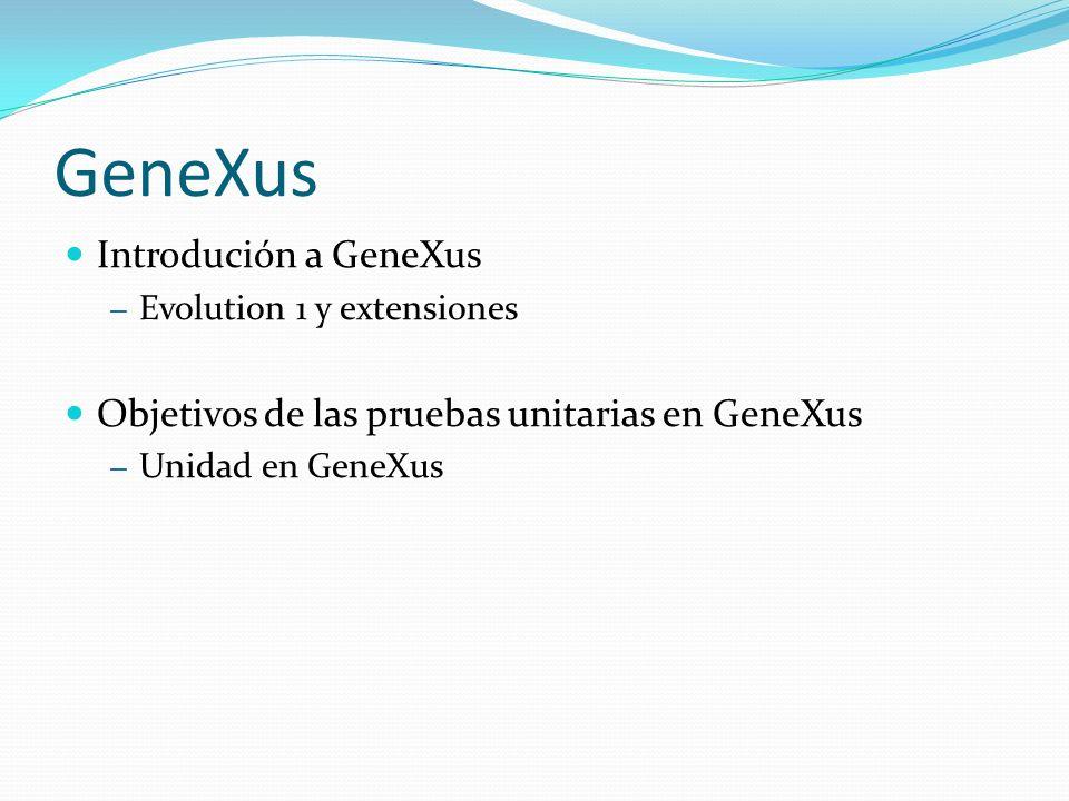 GeneXus Introdución a GeneXus