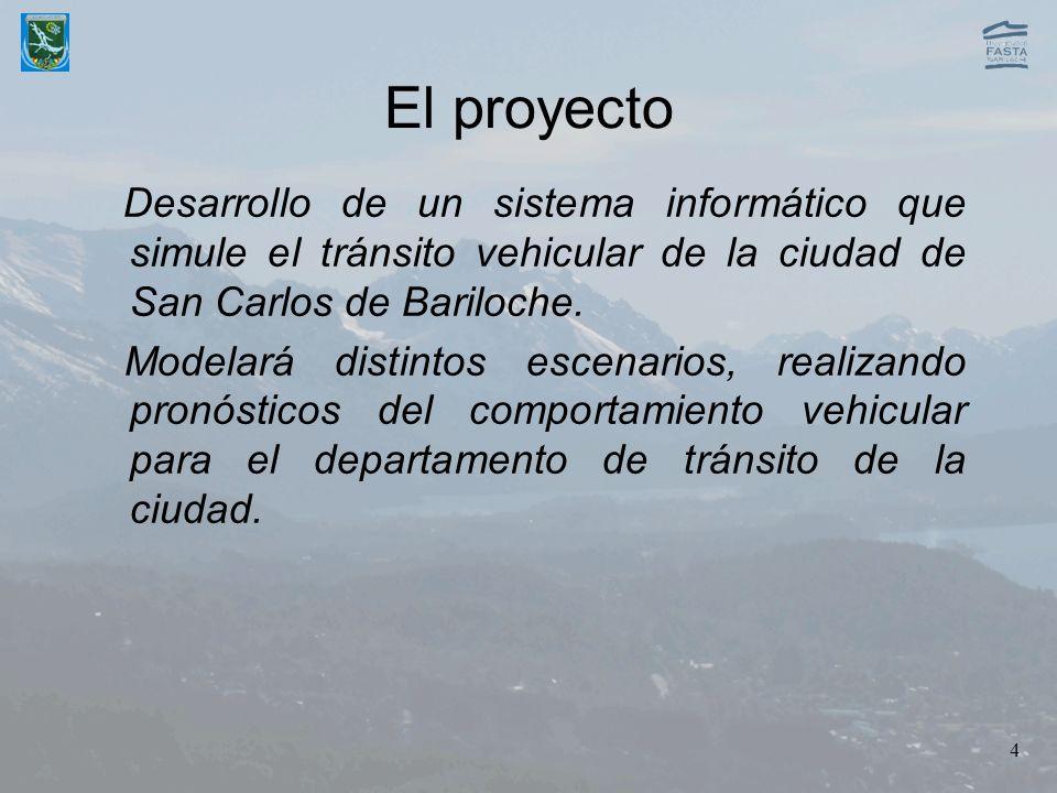 El proyecto Desarrollo de un sistema informático que simule el tránsito vehicular de la ciudad de San Carlos de Bariloche.