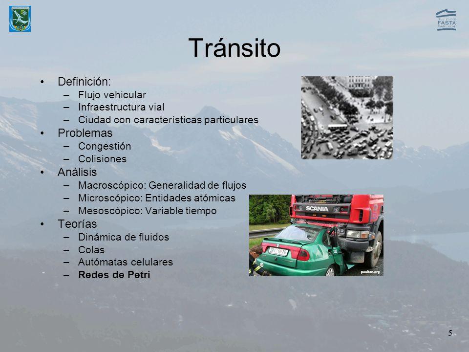Tránsito Definición: Problemas Análisis Teorías Flujo vehicular