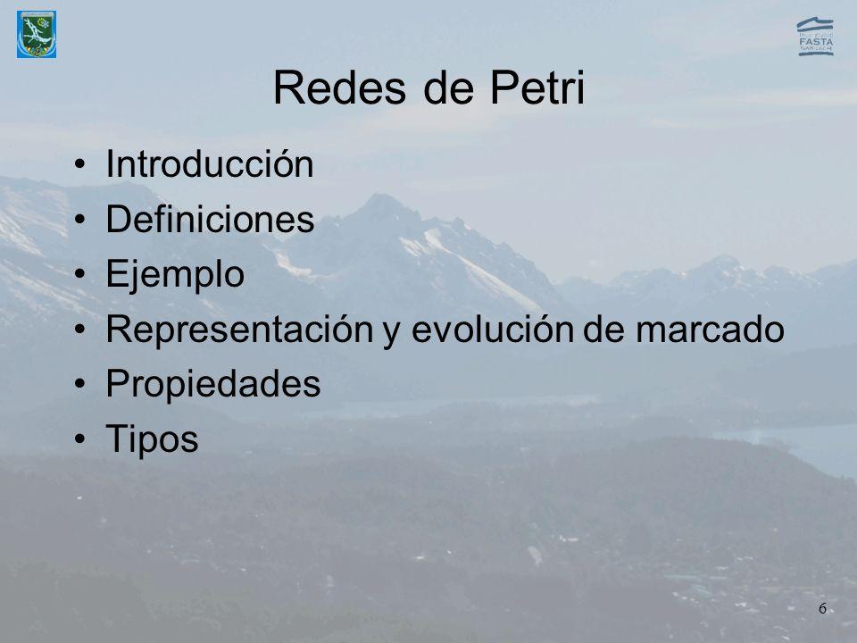 Redes de Petri Introducción Definiciones Ejemplo
