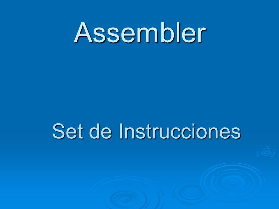 Assembler Set de Instrucciones