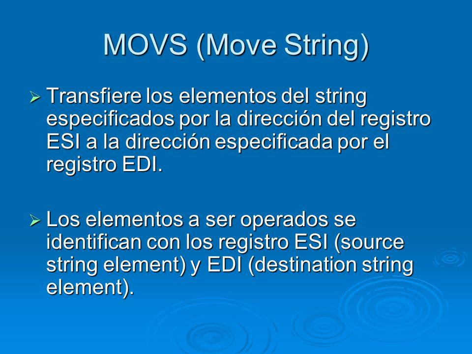 MOVS (Move String)