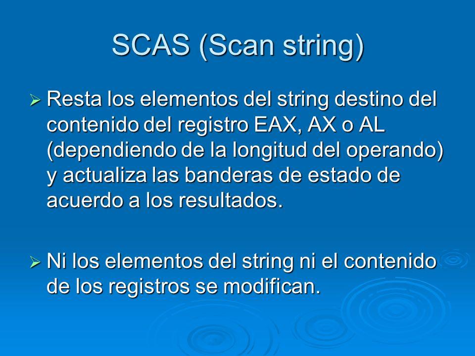 SCAS (Scan string)