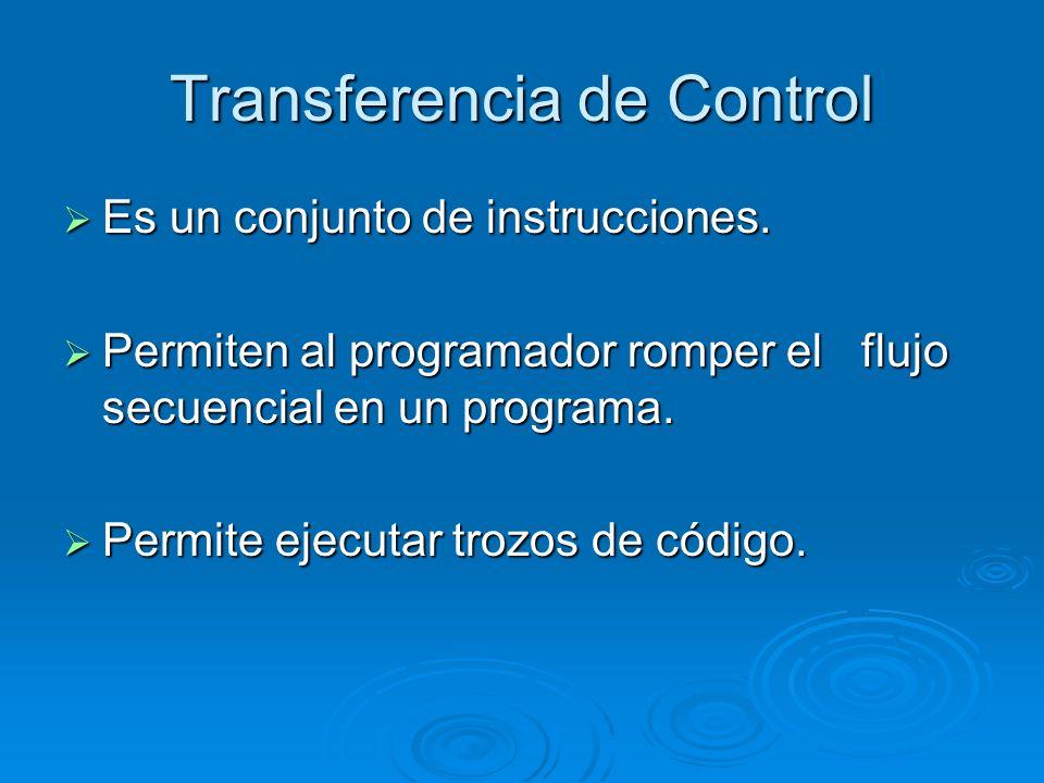 Transferencia de Control