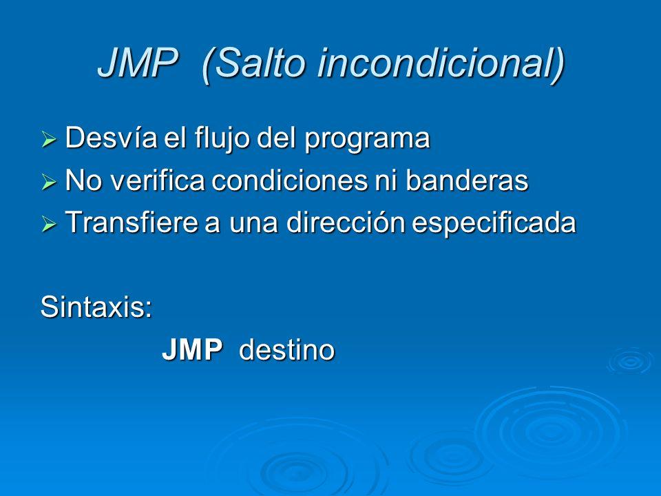 JMP (Salto incondicional)