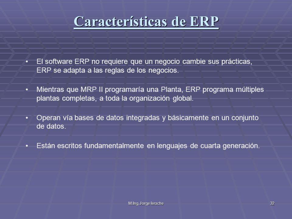 Características de ERP