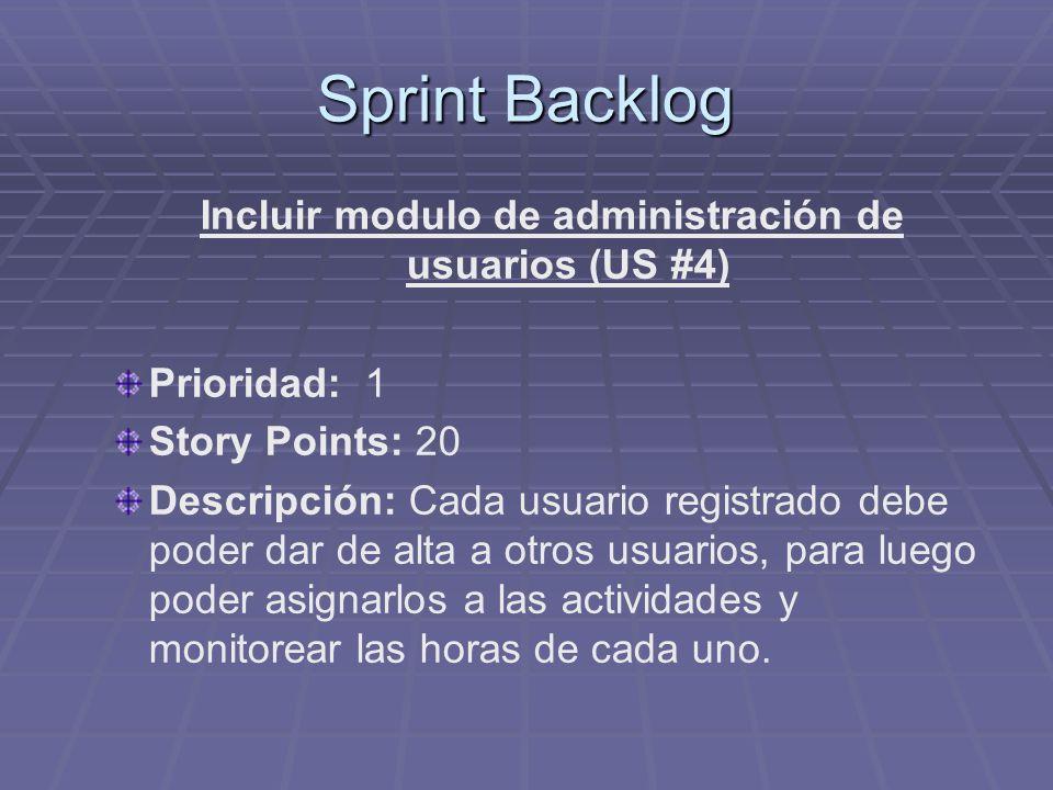 Incluir modulo de administración de usuarios (US #4)
