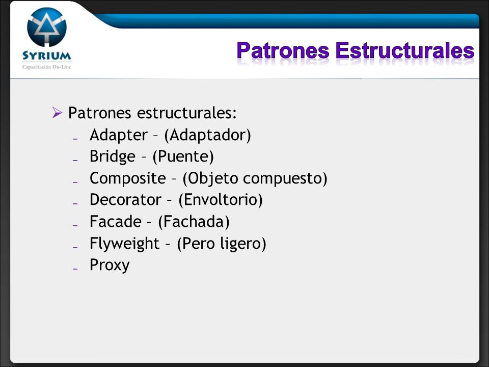 Patrones Estructurales