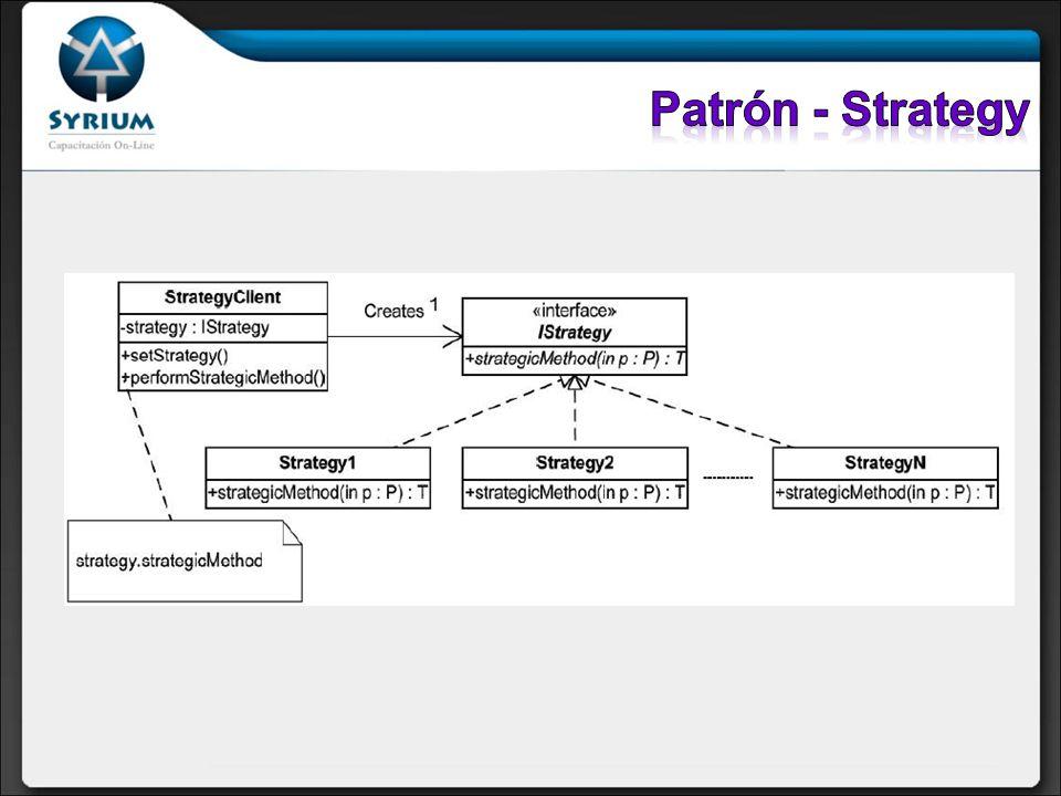 Patrón - Strategy