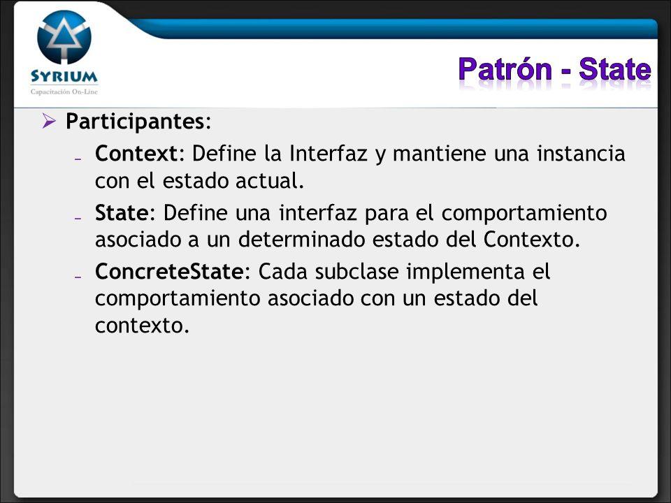 Patrón - State Participantes: