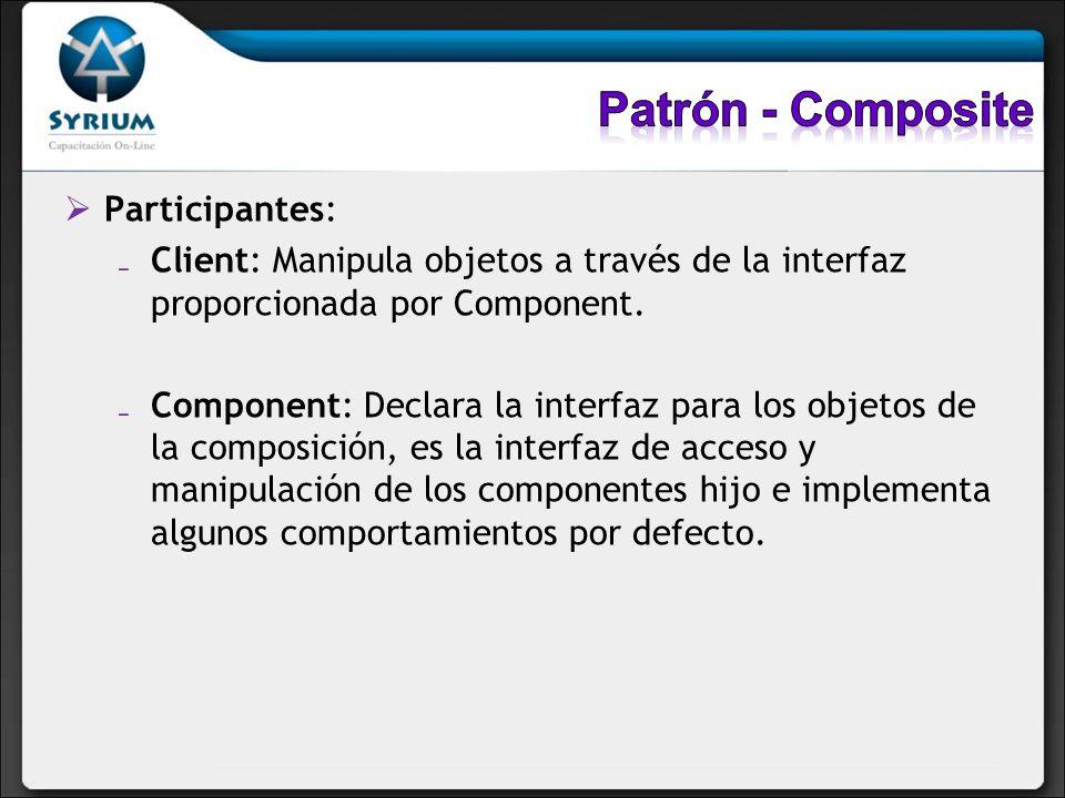 Patrón - Composite Participantes: