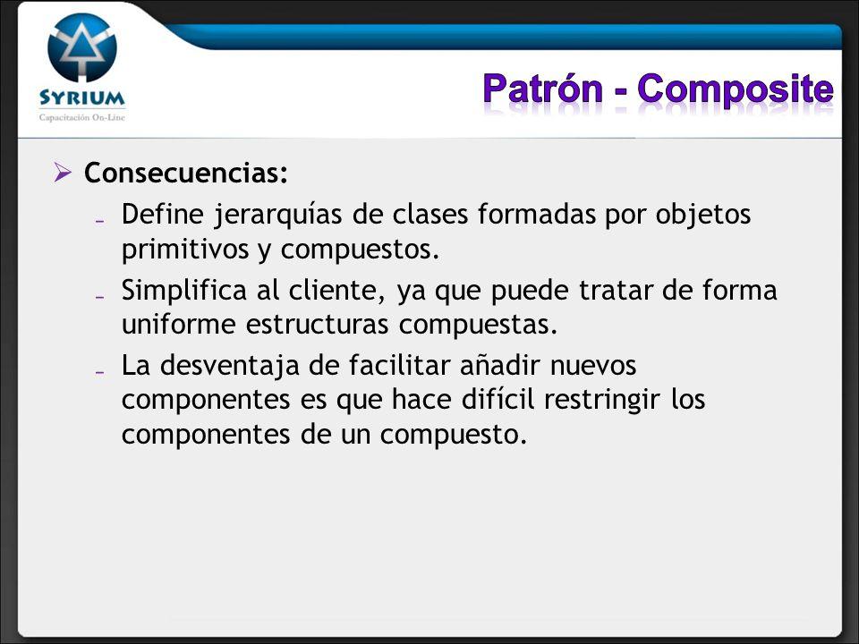 Patrón - Composite Consecuencias:
