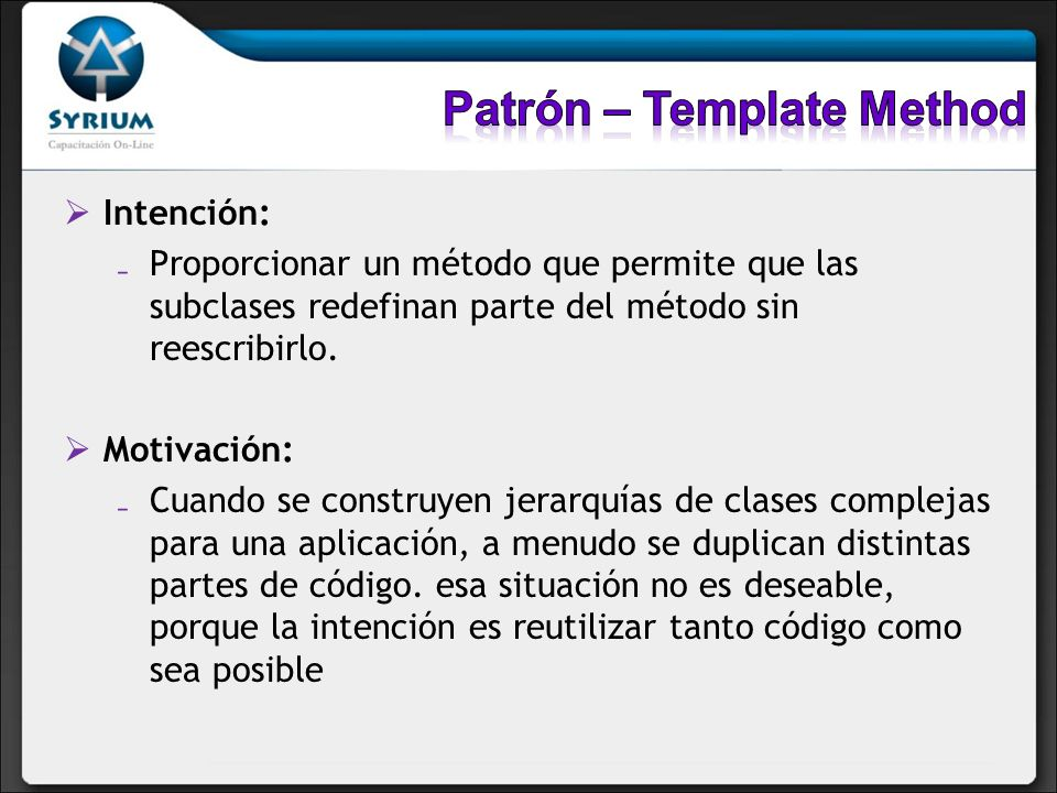 Patrón – Template Method