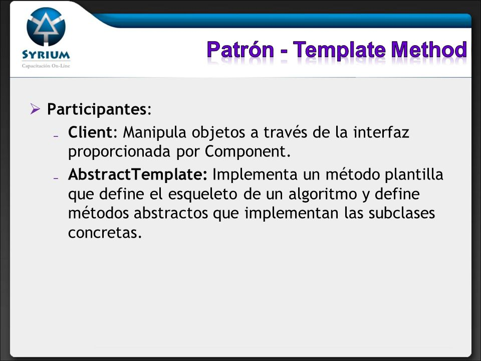 Patrón - Template Method