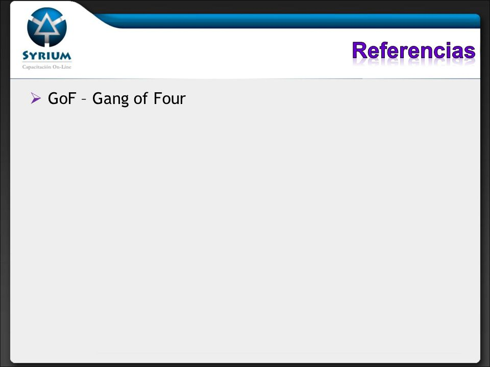 Referencias GoF – Gang of Four