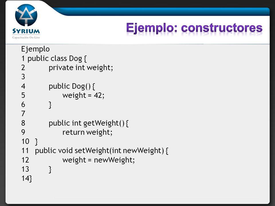 Ejemplo: constructores