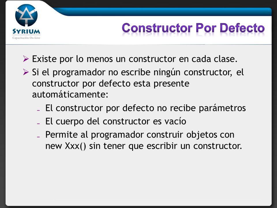 Constructor Por Defecto