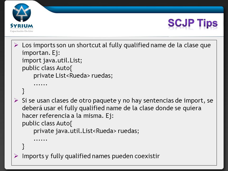 SCJP Tips