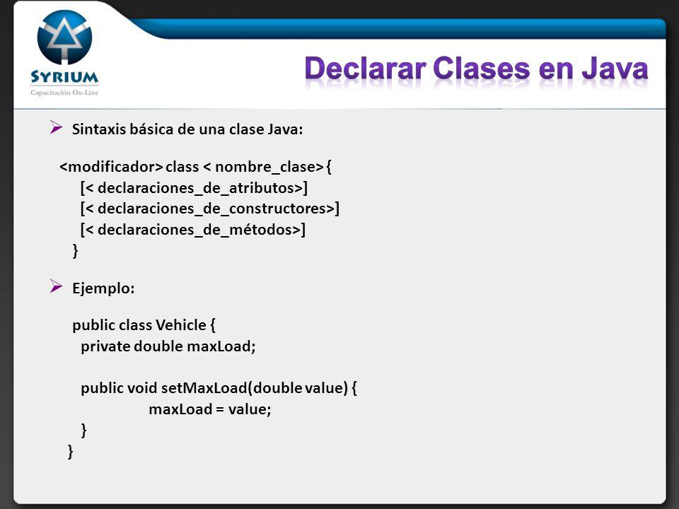 Declarar Clases en Java