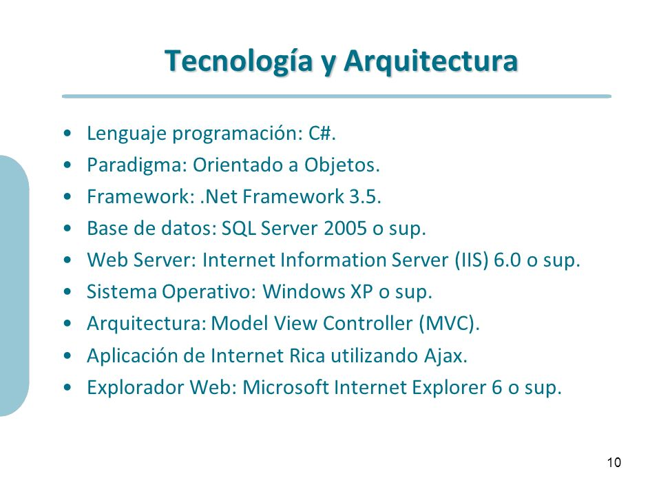 Tecnología y Arquitectura
