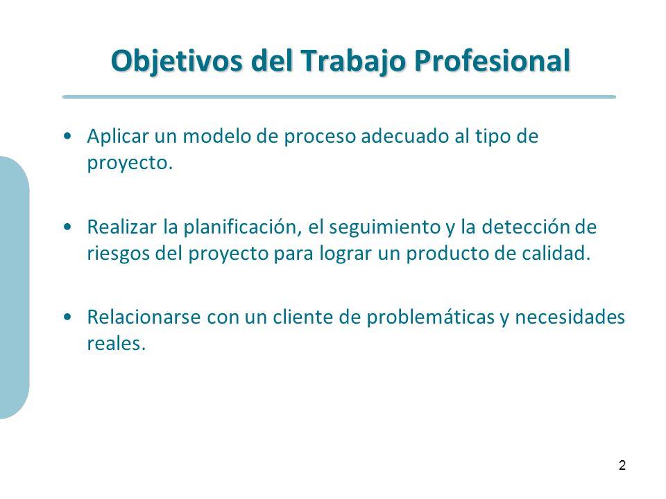 Objetivos del Trabajo Profesional