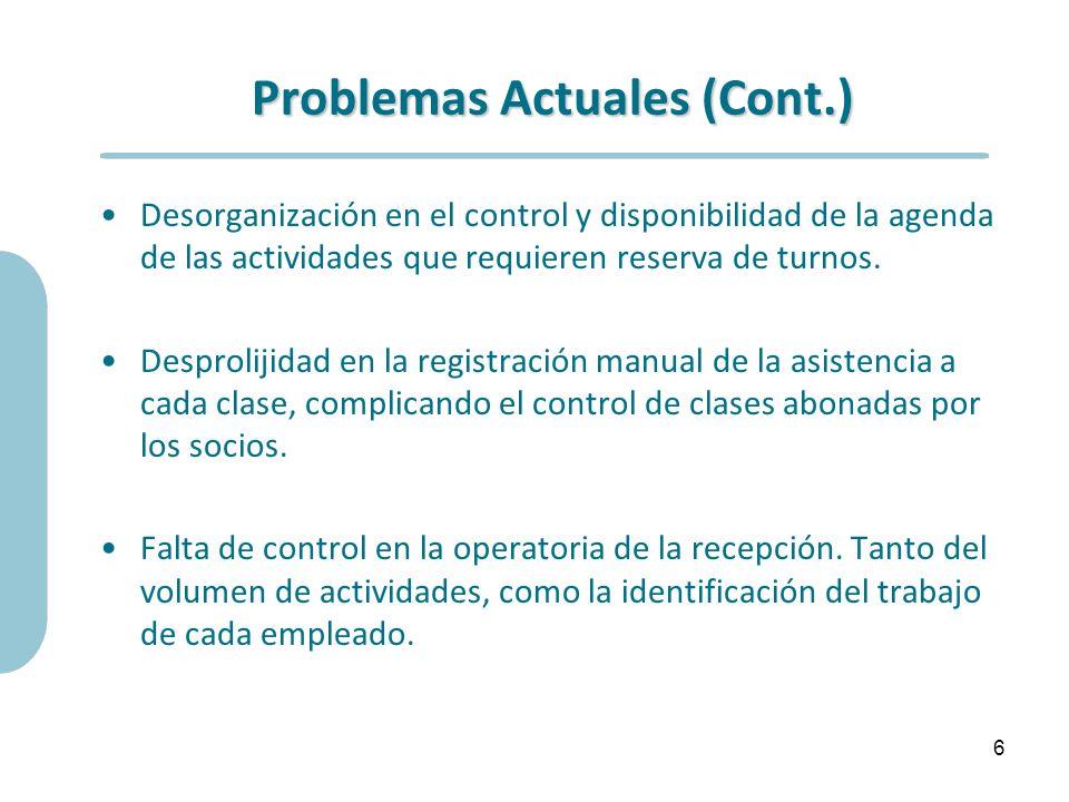 Problemas Actuales (Cont.)