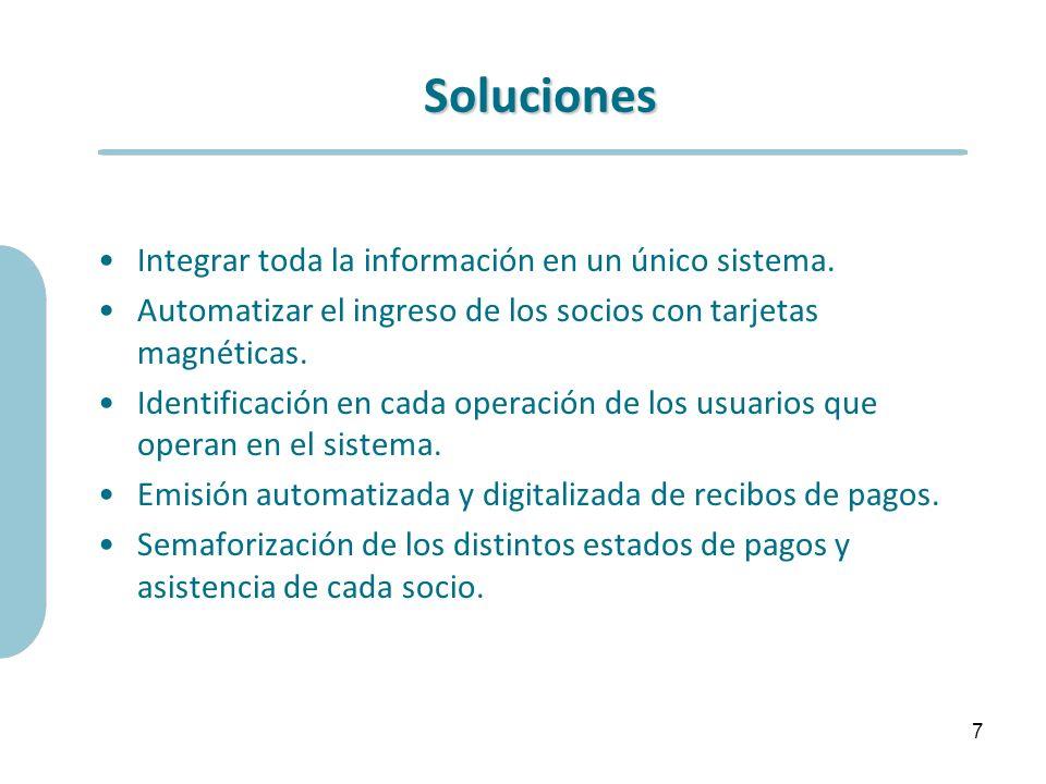 Soluciones Integrar toda la información en un único sistema.
