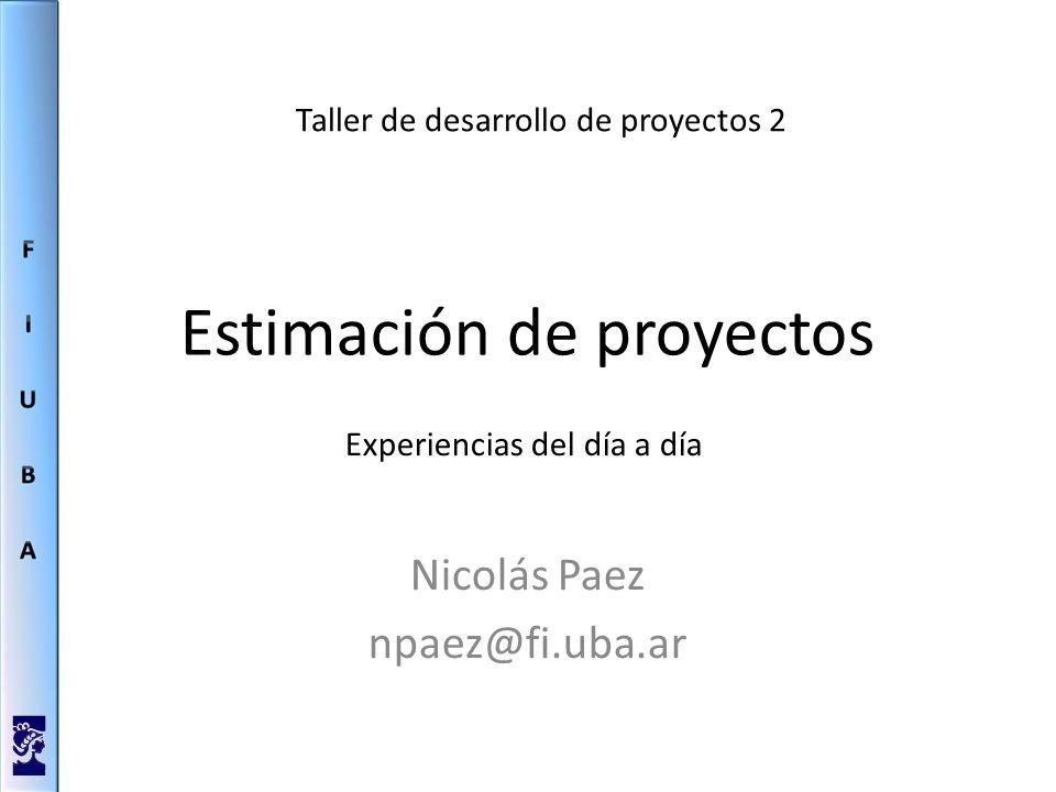 Estimación de proyectos