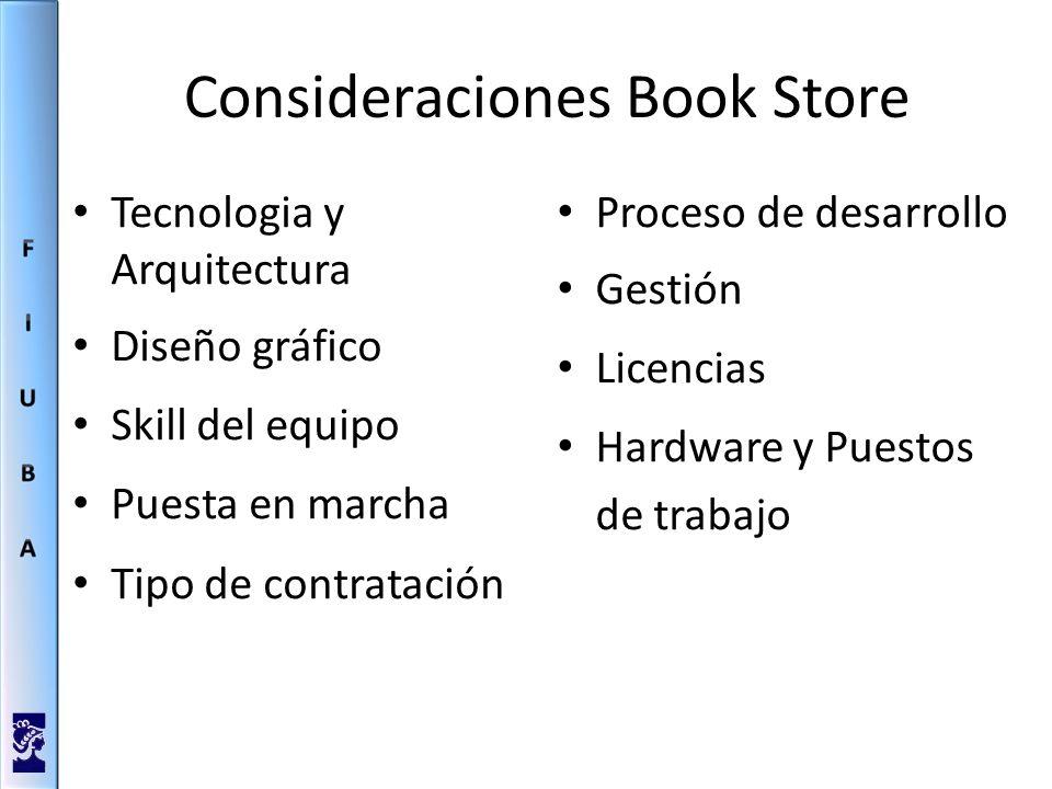 Consideraciones Book Store