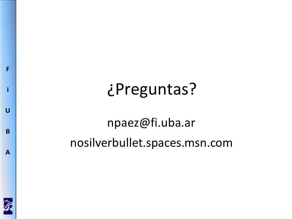 ¿Preguntas nosilverbullet.spaces.msn.com