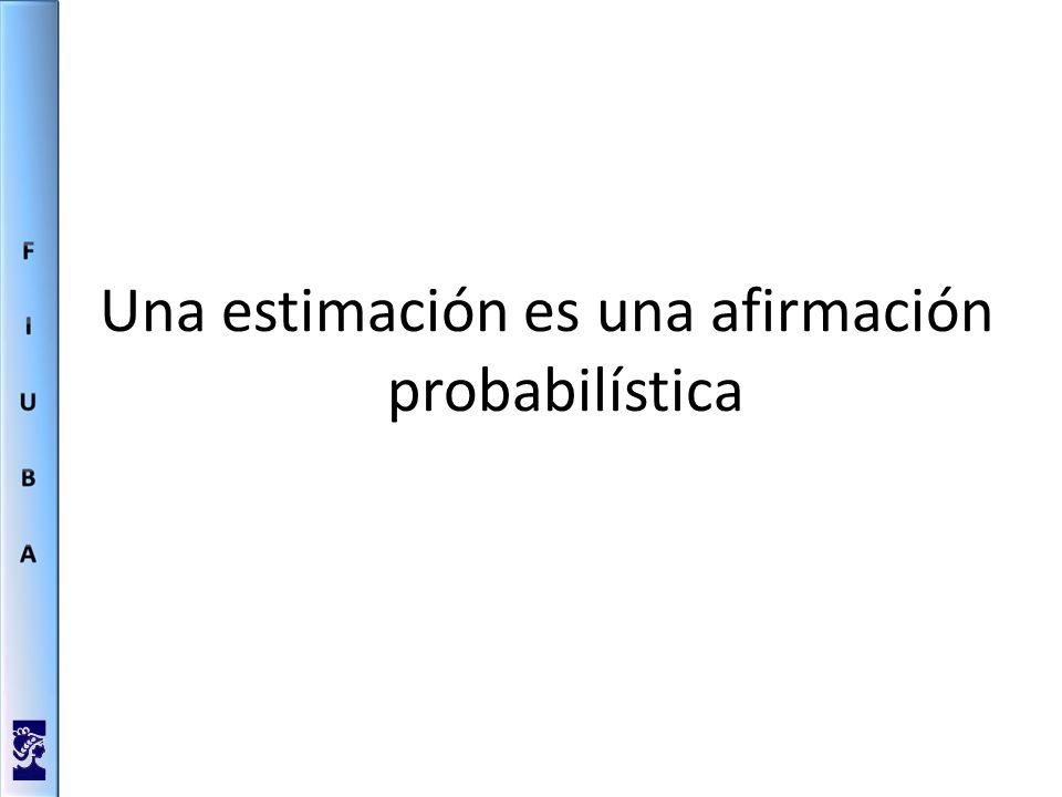 Una estimación es una afirmación probabilística
