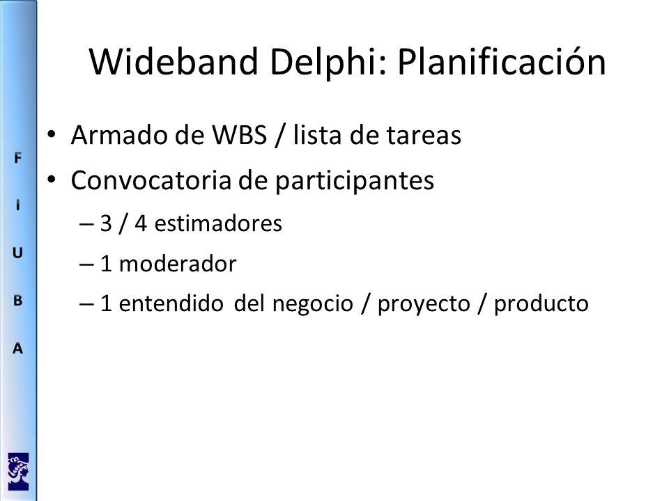 Wideband Delphi: Planificación