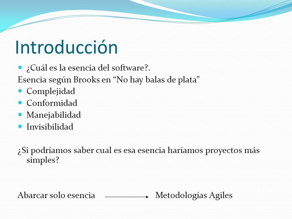 Introducción ¿Cuál es la esencia del software .