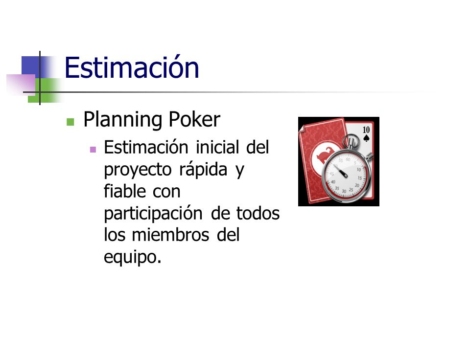 Estimación Planning Poker