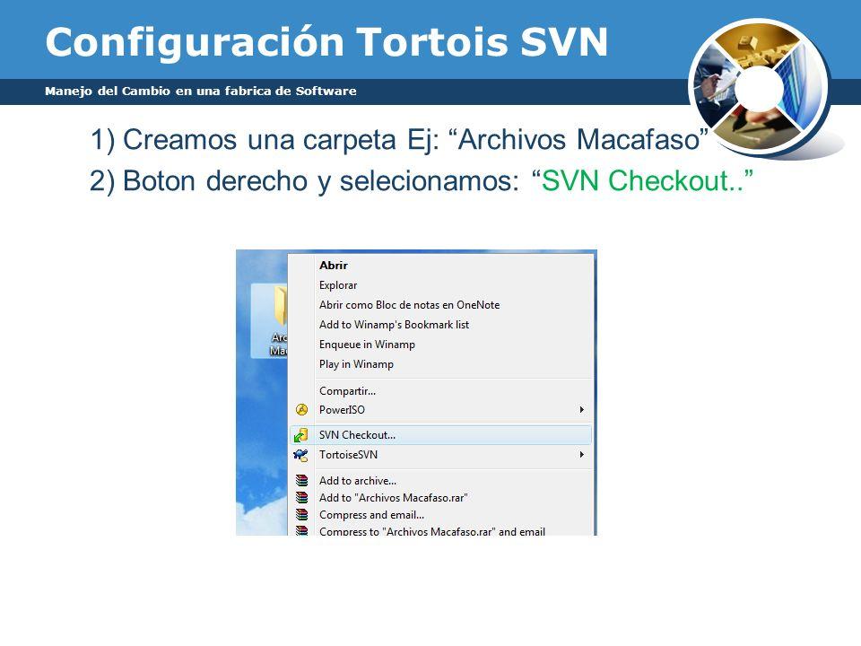 Configuración Tortois SVN