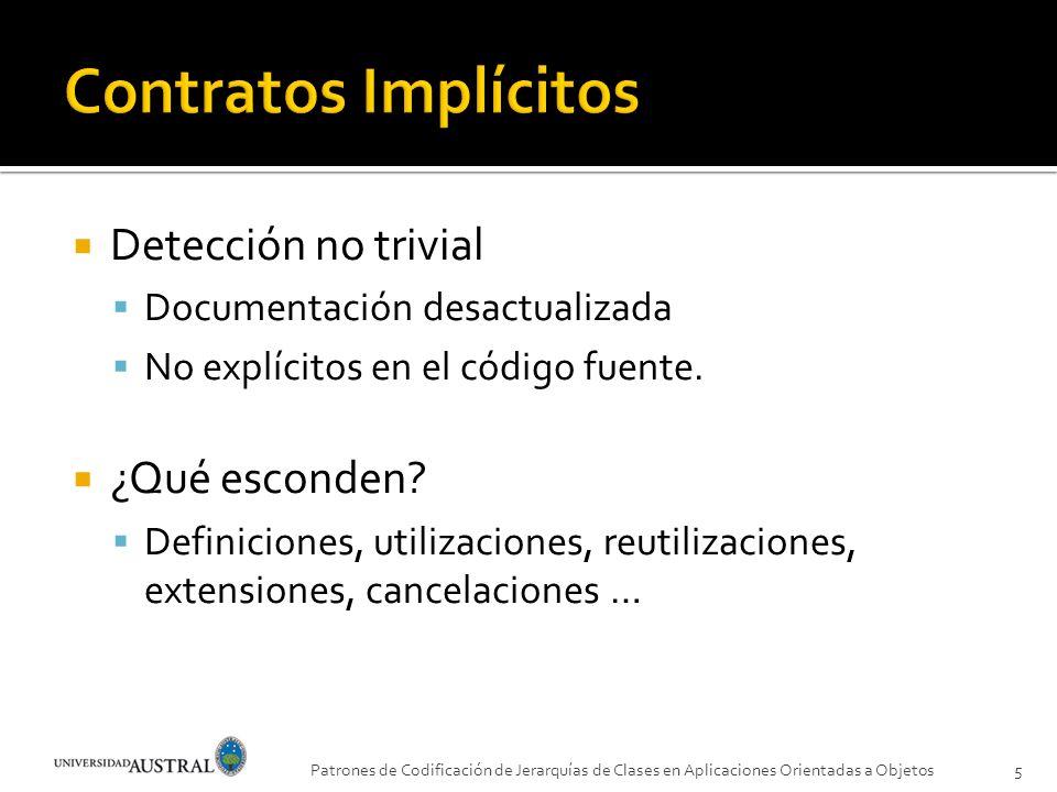 Contratos Implícitos Detección no trivial ¿Qué esconden