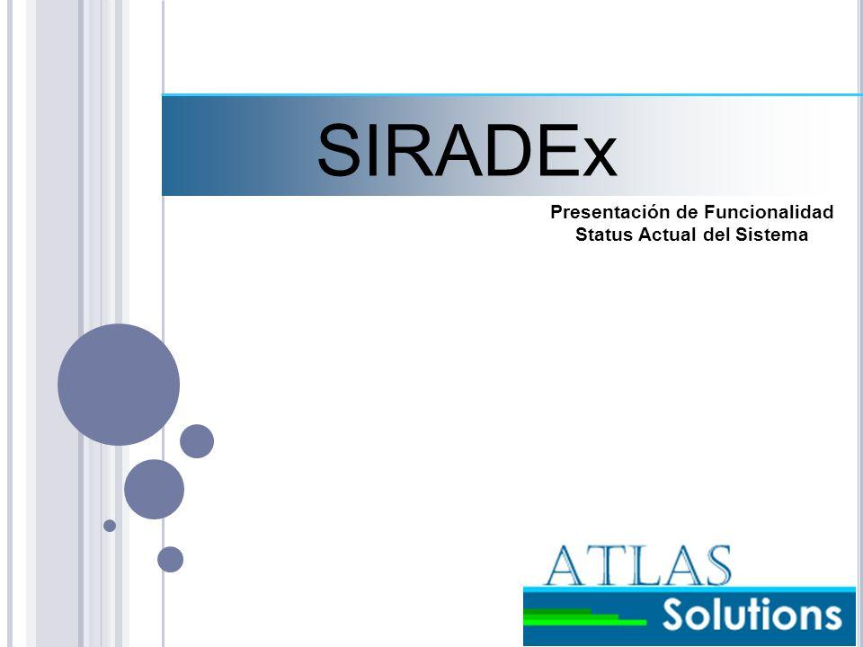 Presentación de Funcionalidad Status Actual del Sistema