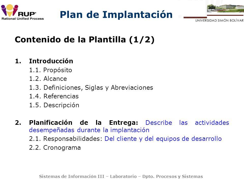Contenido de la Plantilla (1/2)