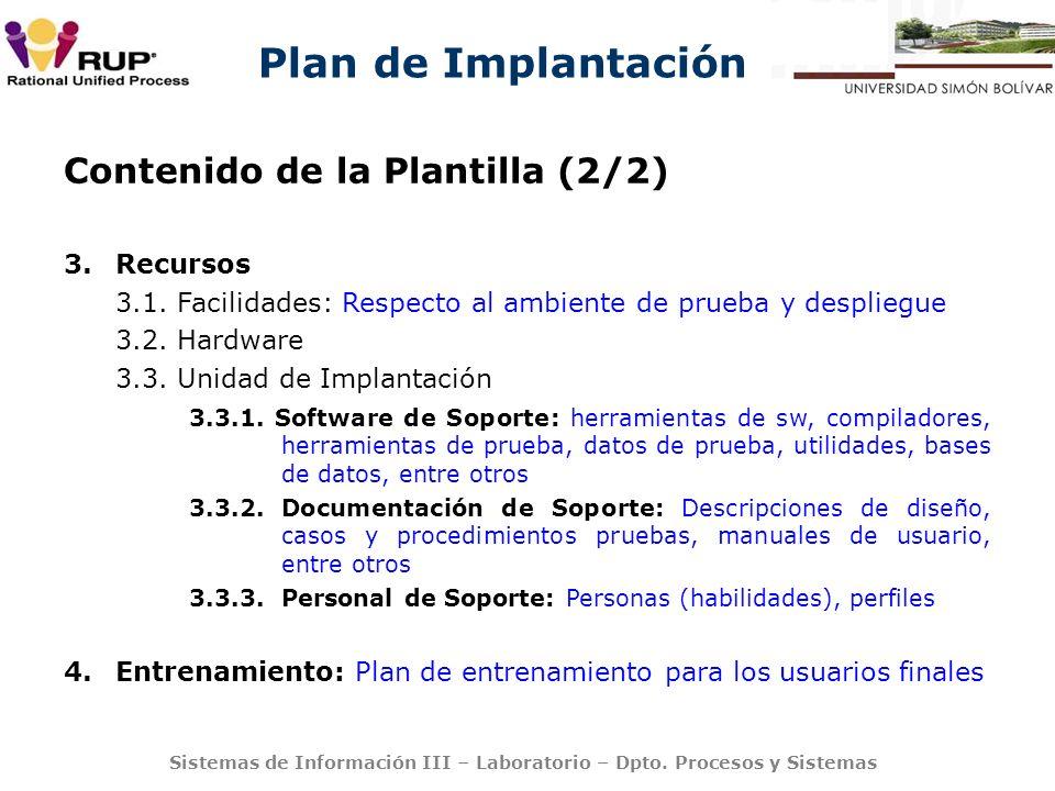 Contenido de la Plantilla (2/2)