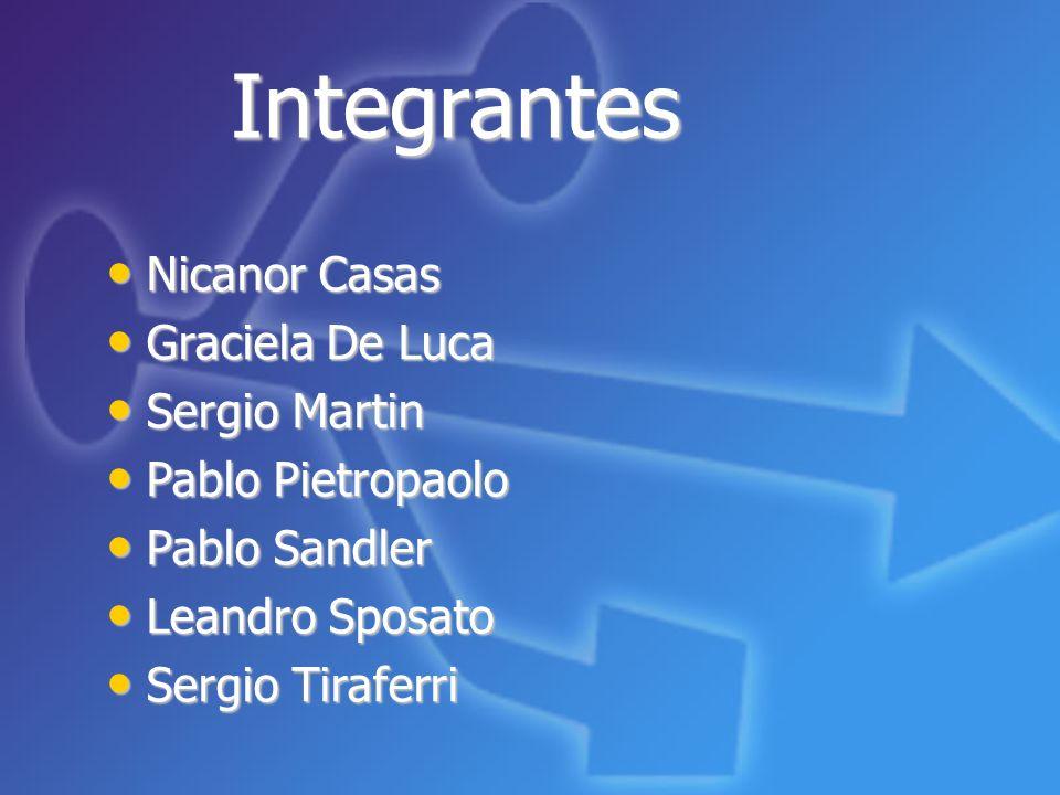 Integrantes Nicanor Casas Graciela De Luca Sergio Martin