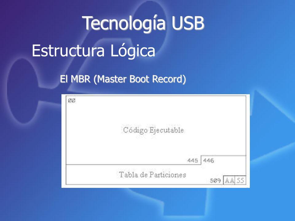 Tecnología USB Estructura Lógica El MBR (Master Boot Record)