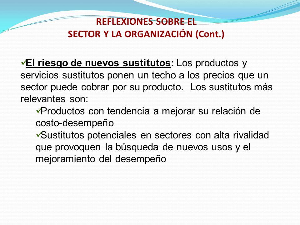 REFLEXIONES SOBRE EL SECTOR Y LA ORGANIZACIÓN (Cont.)