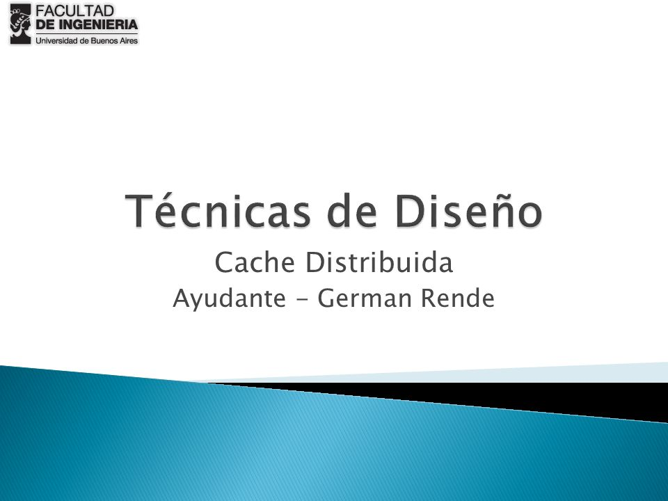 Cache Distribuida Ayudante - German Rende