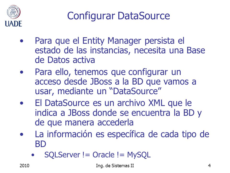Configurar DataSource