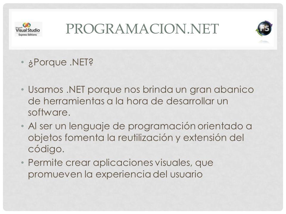 Programacion.net ¿Porque .NET